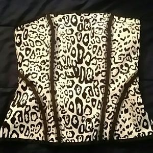 New WHBM corset 4 Leopard Black & White